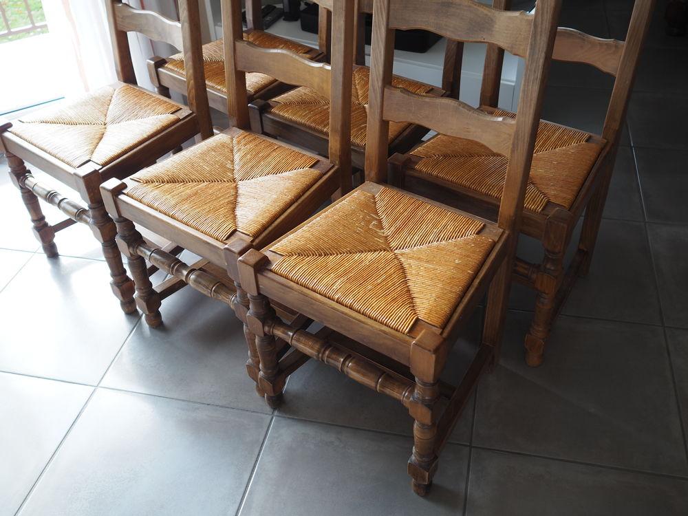 Six chaises artisanales pour salle à manger 150 Culoz (01)