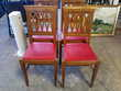 Lot de 4 chaises assises rouge Toulouse (31)