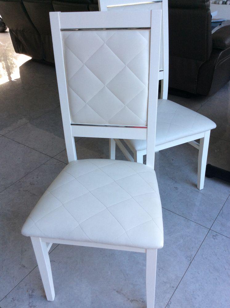 Lot de 8 chaises blanche laquée qualité italienne 440 Groslay (95)