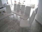 Lot de 6 chaises blanches en simili cuir 70 Périgueux (24)