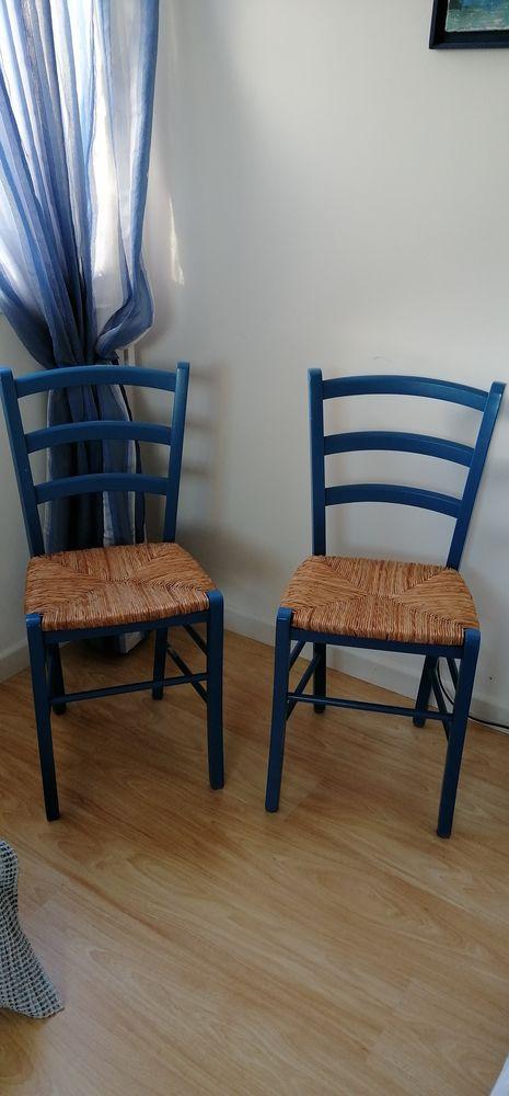 Chaises bleues Meubles