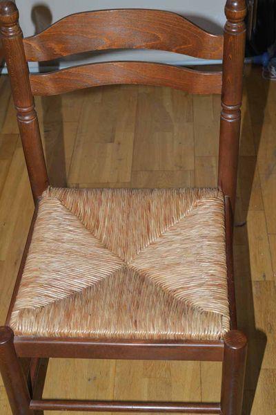 Lot de 6 Chaises en bois assise paille. Etat neuf  60 Bagnolet (93)