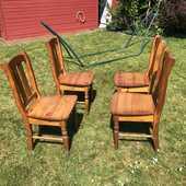 Chaises en bois ciré 40 Houppeville (76)