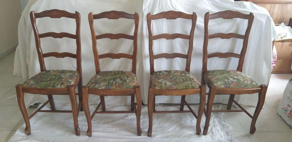 lot de 4 chaises en bois de hêtre massif,hauteur assise 46, dossier 96 30 Les Peintures (33)