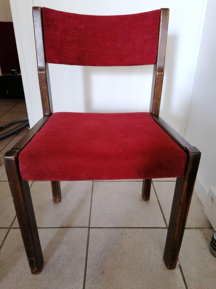 Lot de 4 chaises en bois massif à rénover 25 Éragny (95)