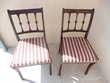 chaises bois sièges tissu