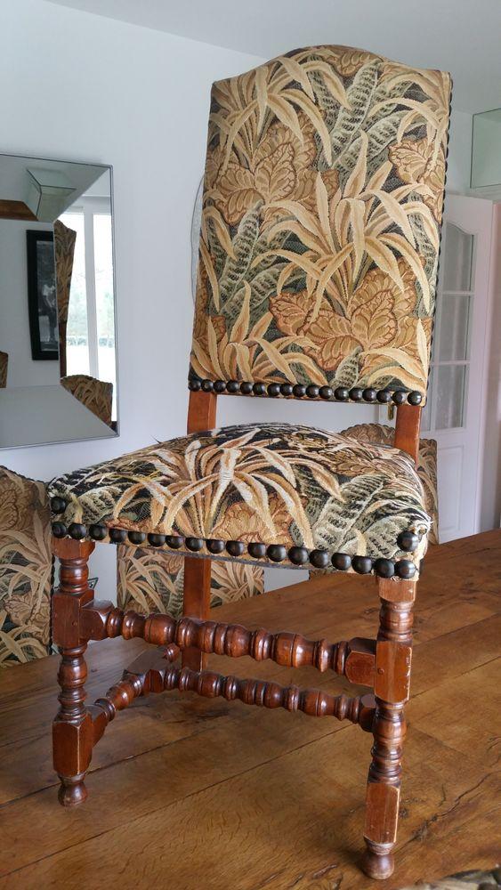 Lot 6 chaises bois 50 Janvry (91)