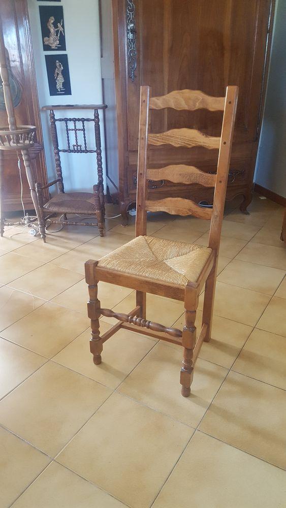 lot de 6 chaises en bois 50 Saint-Trojan-les-Bains (17)