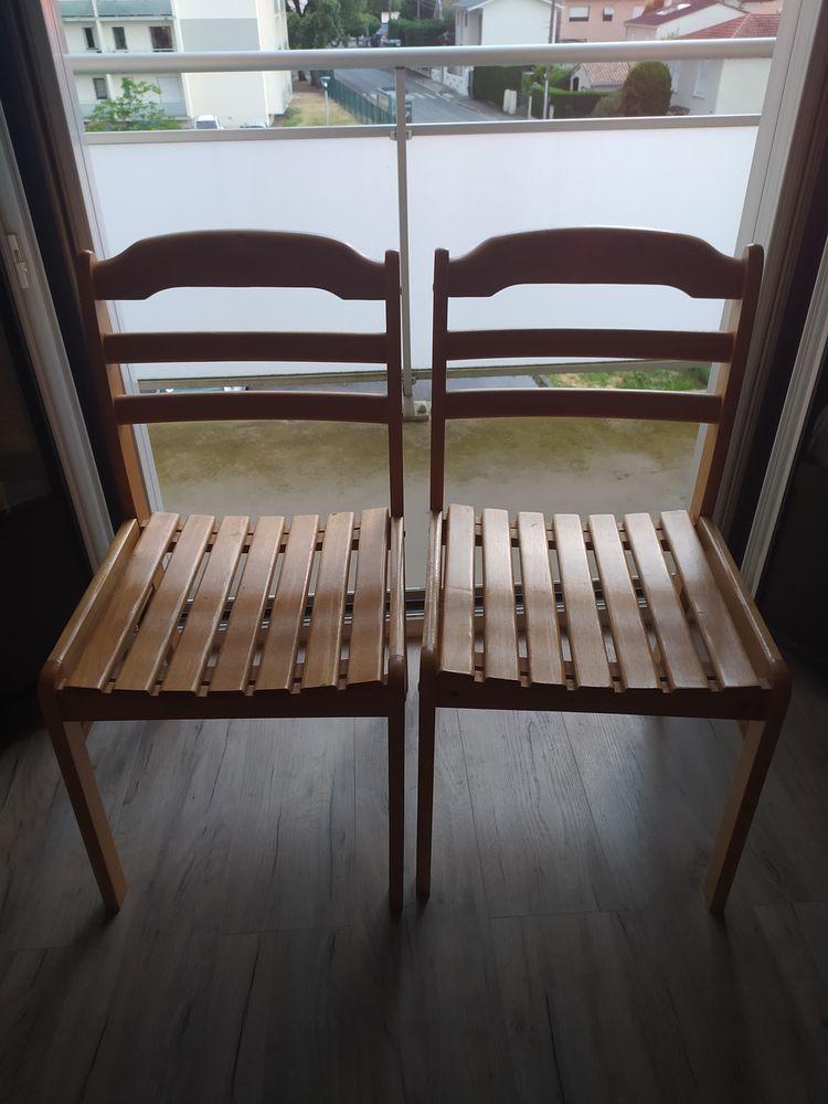 2 chaises en bois 10 Talence (33)