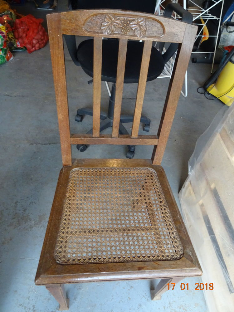 3 chaises cannées anciennes 45 Saint-Blimont (80)