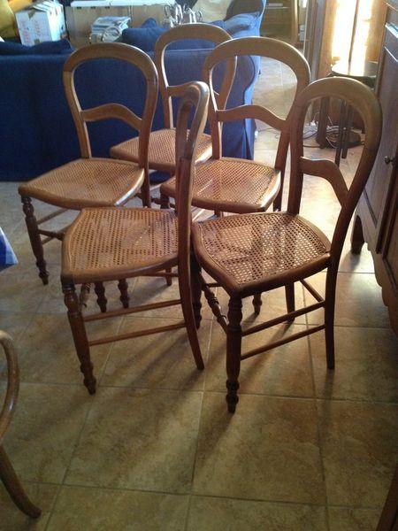 Achetez chaises cannées occasion, annonce vente à Mazan