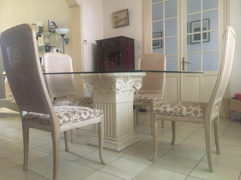 4 chaises en cérusé + plateau en verre 400 Douai (59)