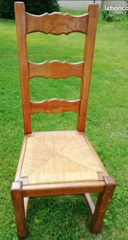 Lot 6 chaises chêne et paiille 0 Longpont-sur-Orge (91)