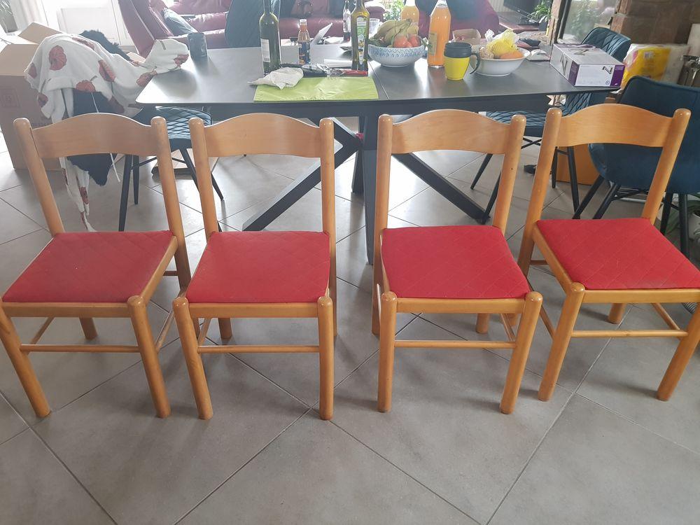 Lot de 4 chaises en chene 35 Montbonnot-Saint-Martin (38)