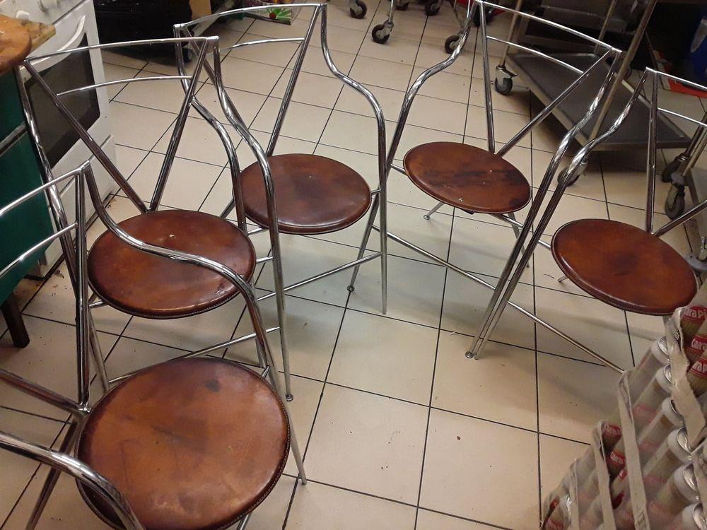 lot de 5 chaises chromé sige cuir 50 Pithiviers (45)