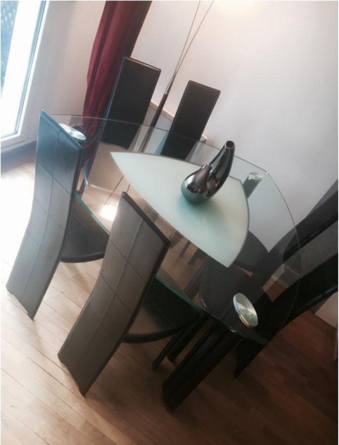 chaises cuir de vachette Roche Bobois