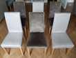 Lot de 6 chaises déhoussables Toile de Mayenne