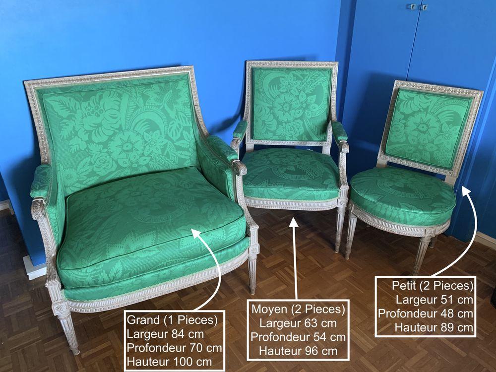5 Chaises et fauteuils antiquité (1 Grand, 2 Moyen, 2 Petit) 1400 Cannes (06)