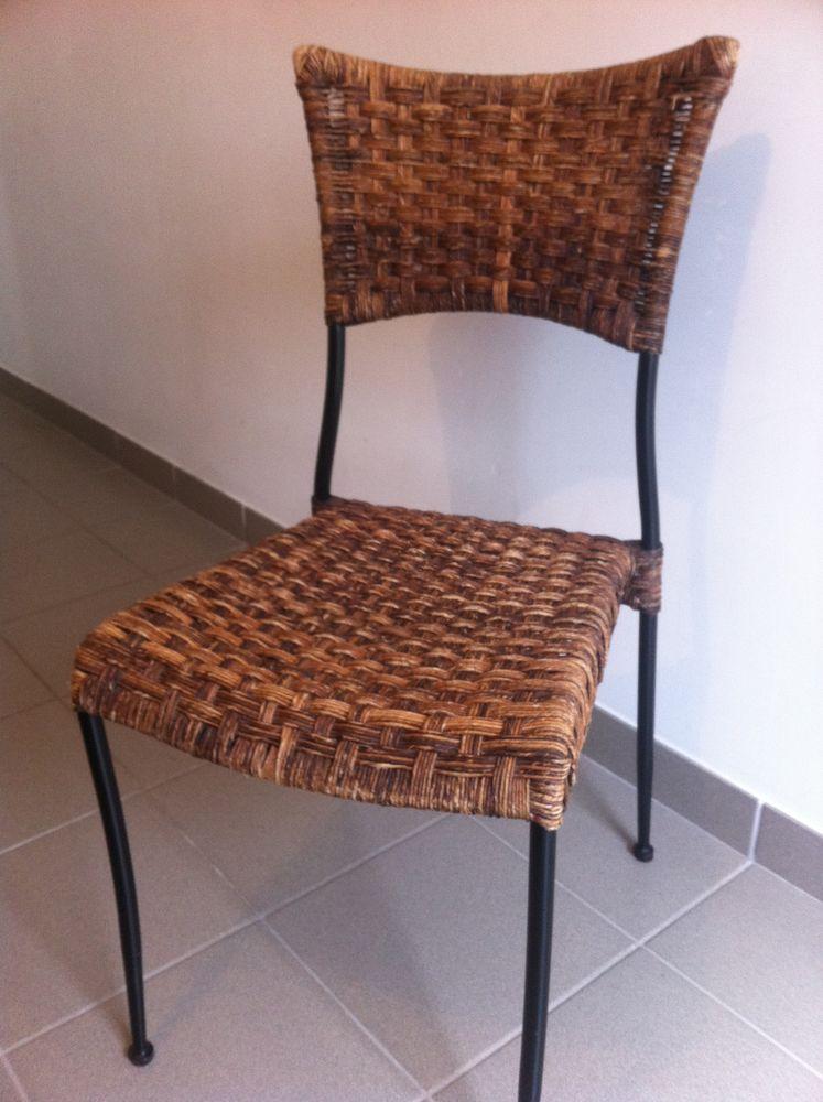 Chaises fer forgé et fibres naturelles 45 Noyal-sur-Vilaine (35)