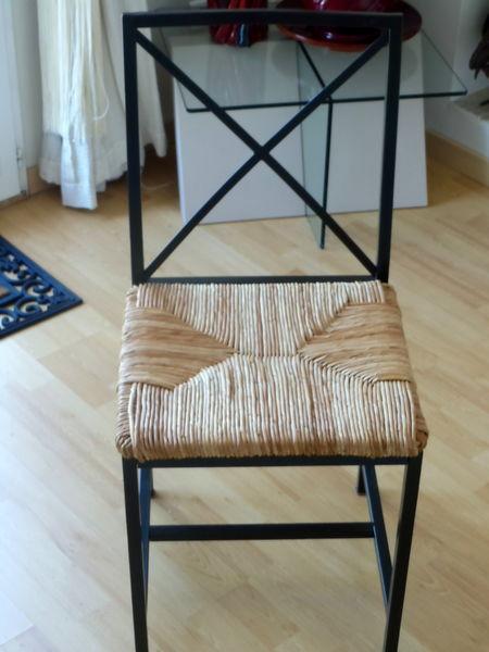4 chaises fer forge et paille 70 euro au lieu de 240 meubles - Chaise En Fer