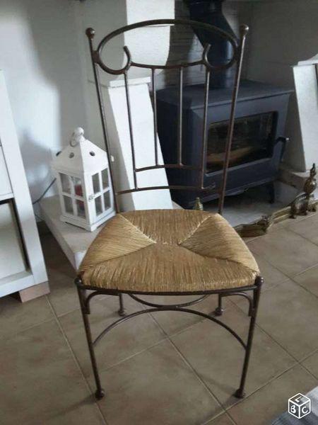 chaises fer forg meubles - Chaise En Fer