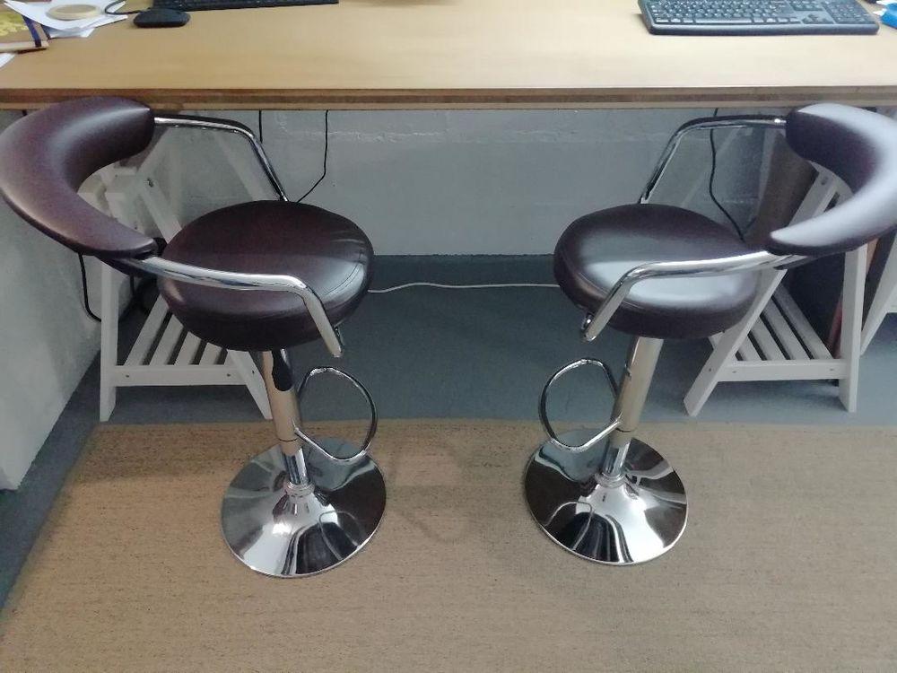 2 chaises haute en cuir marron 0 Antony (92)