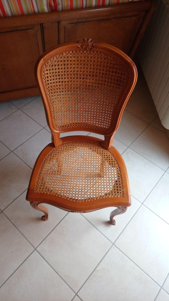 6 chaises hêtres cannées main louis xv