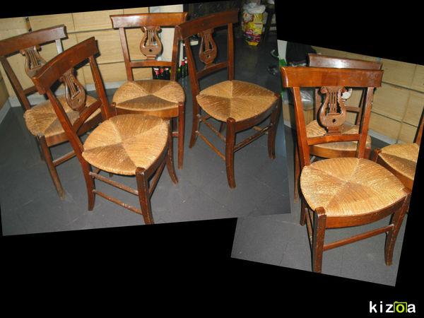 4 chaises louis Philippe Charles XX noyer ou autre 19 em  200 Marseille 13 (13)