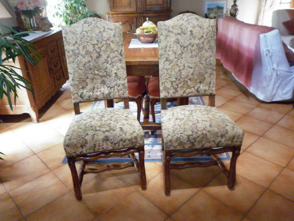 6 chaises Louis XIII  os de mouton  450 Cadaujac (33)