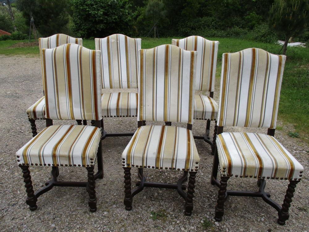 chaises Louis XIII os de mouton -lot de 6 500 Villemur-sur-Tarn (31)
