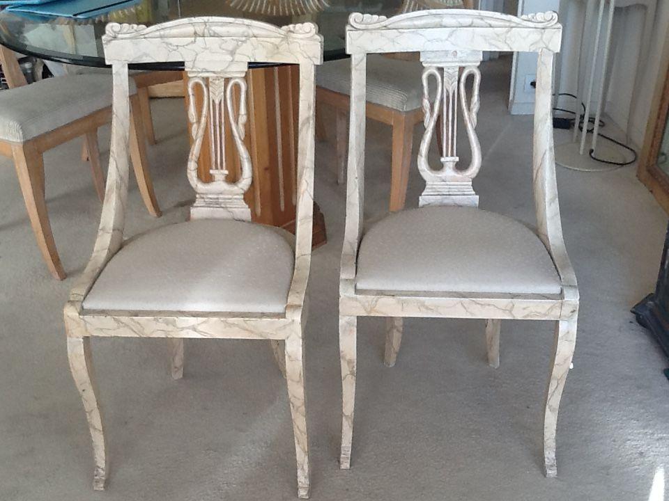 Chaises lyre peintes 80 Neuilly-sur-Seine (92)