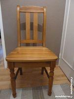 LOT de 4 chaises en pin massif