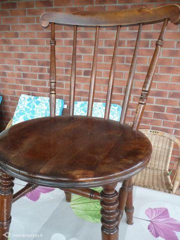 4 chaises en noyer style anglais 50 Berck (62)