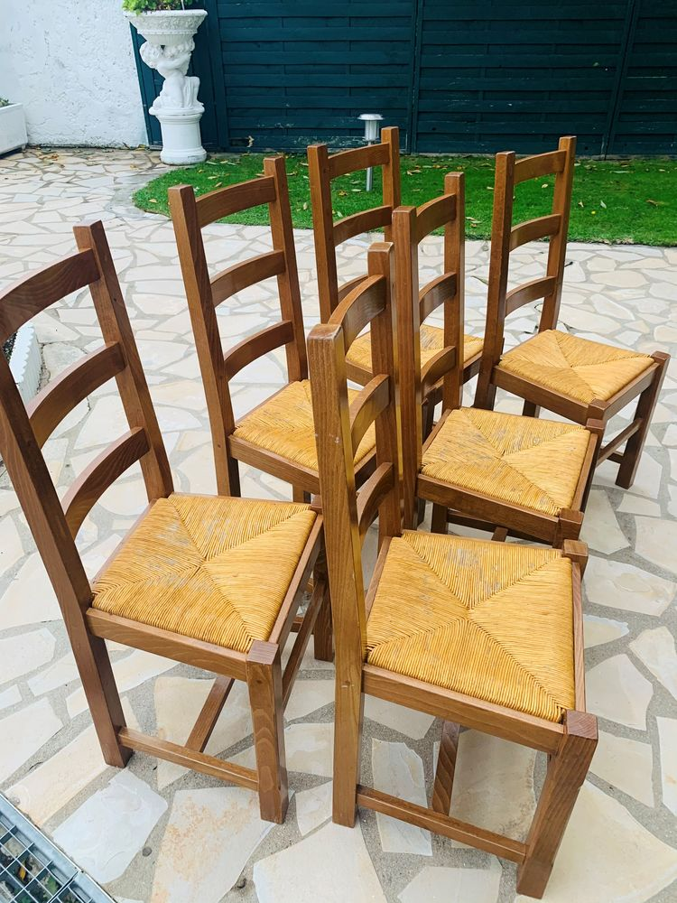 6 chaises en paille 0 Noisy-le-Grand (93)
