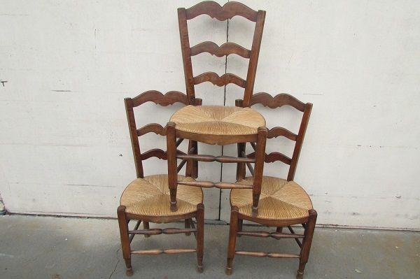 3 chaises paillées , en hêtre 80 Paris 15 (75)