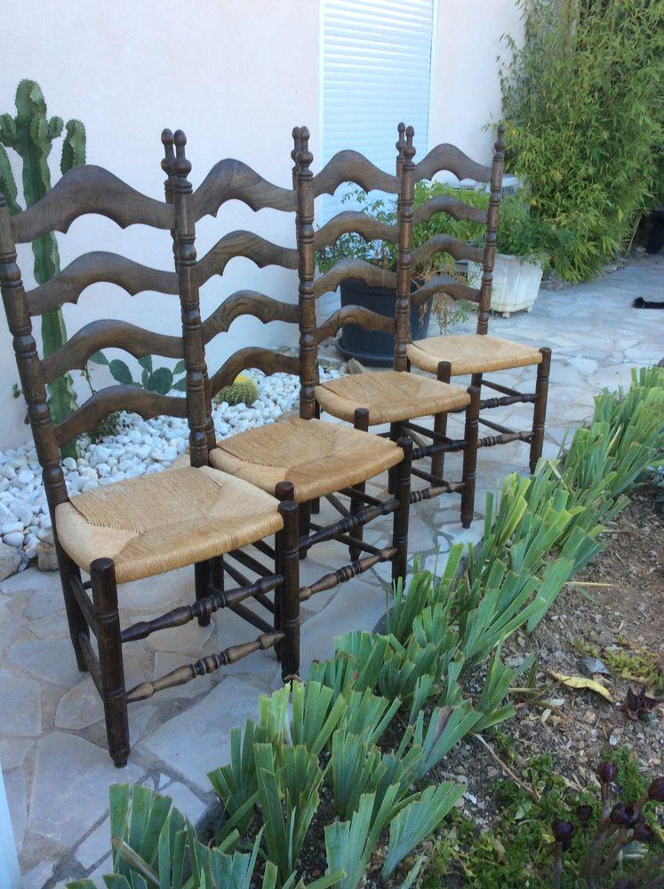 5 chaises paillées +1 a restaurer  150 Six-Fours-les-Plages (83)