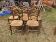 Chaises paillées rustiques