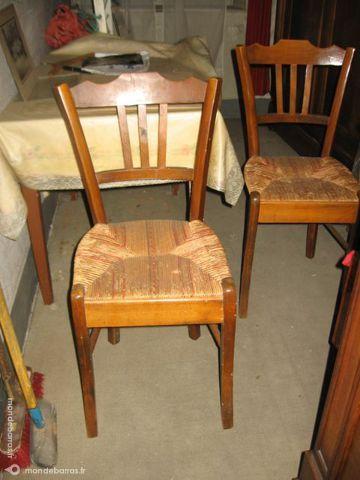 achetez chaises paill es occasion annonce vente beaumont l s valence 26 wb152686912. Black Bedroom Furniture Sets. Home Design Ideas