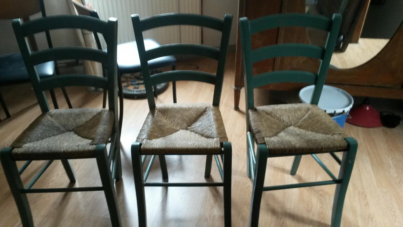 chaises paillées lot de 3 8 Tourcoing (59)