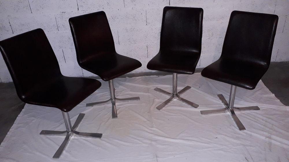 Chaises pied métal années 70 160 Salon-de-Provence (13)