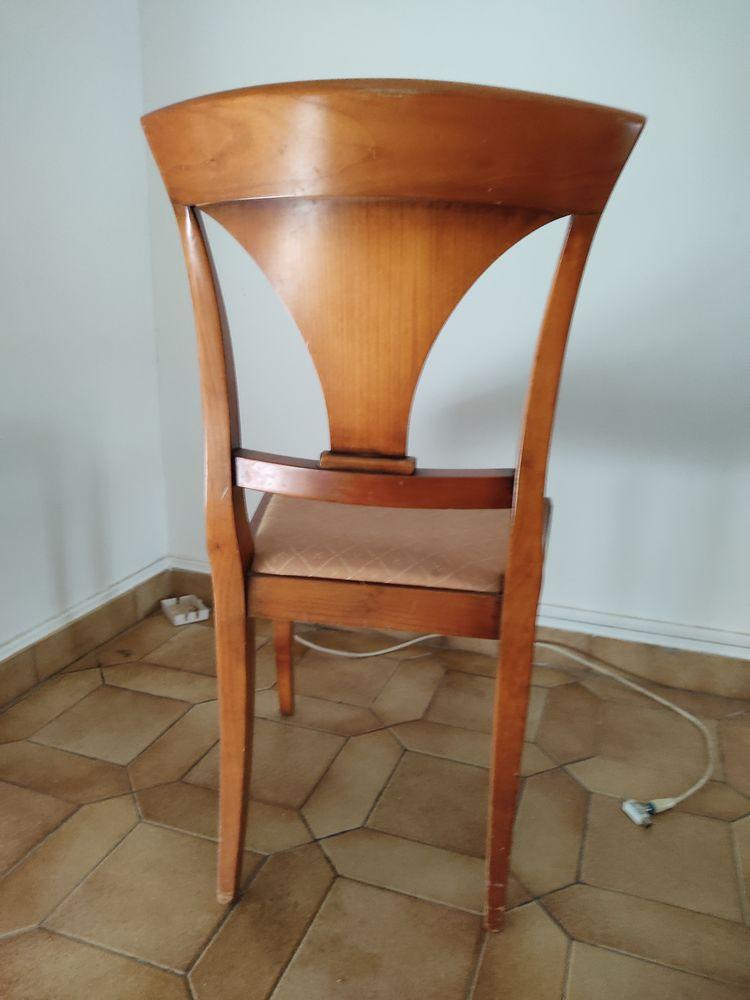 6 chaises pietrement chêne et assise en tissu 40 Montreuil (93)