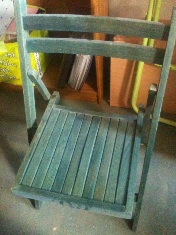 2 chaises pliantes bois 28 Rouen (76)