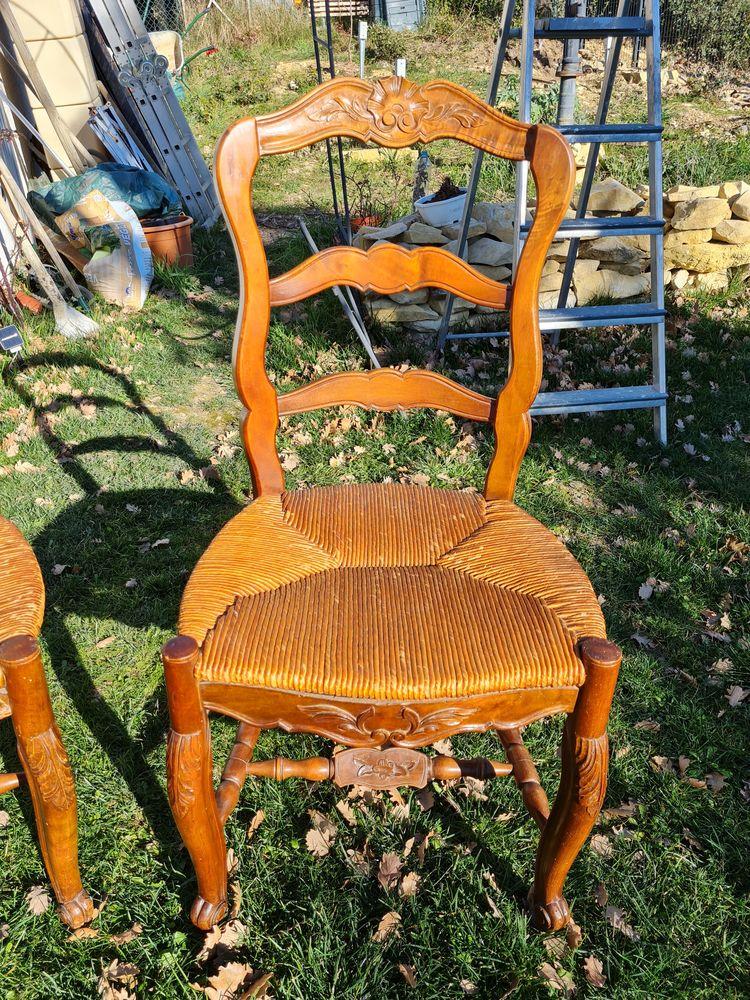 Lot de 4 chaises provençales, 4 motifs différents 160 Saint-Jean-de-Crieulon (30)