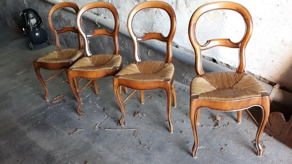Lot 4 chaises Provençales 75 Rians (83)