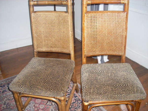 4 CHAISES ROTIN ACHETE  1200e vendu 300e 300 Fontainebleau (77)