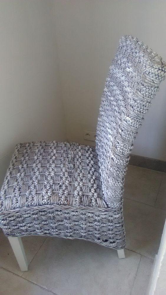 4 chaises rotin grises 190 Sainte-Maxime (83)