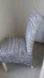 4 chaises rotin grises