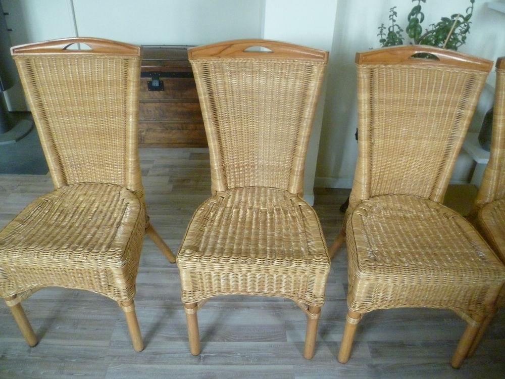6 chaises en rotin  prix mini 90 Darnétal (76)