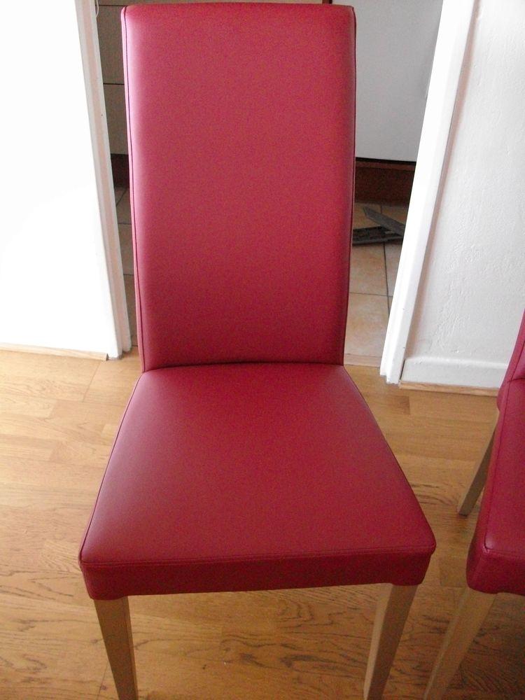 6 chaises rouge/bordeaux 270 Pau (64)