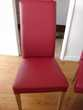 6 chaises rouge/bordeaux